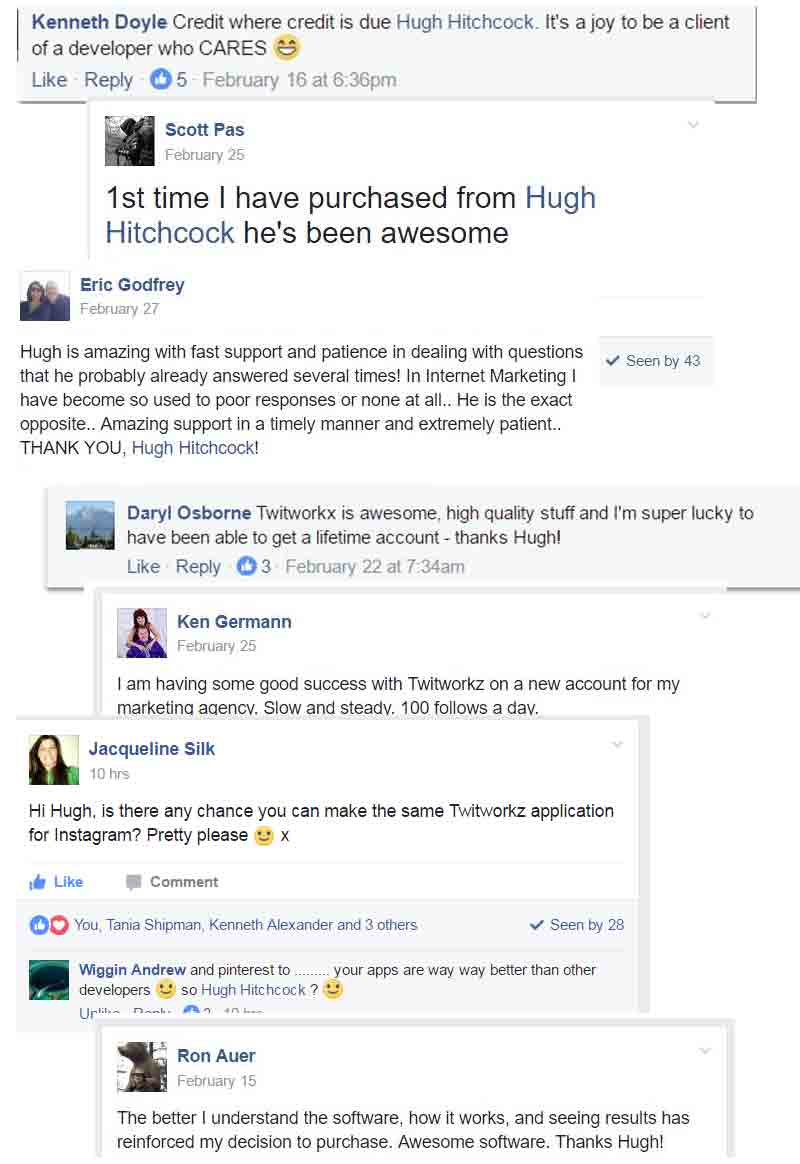 customer testimonials for Twitworkz